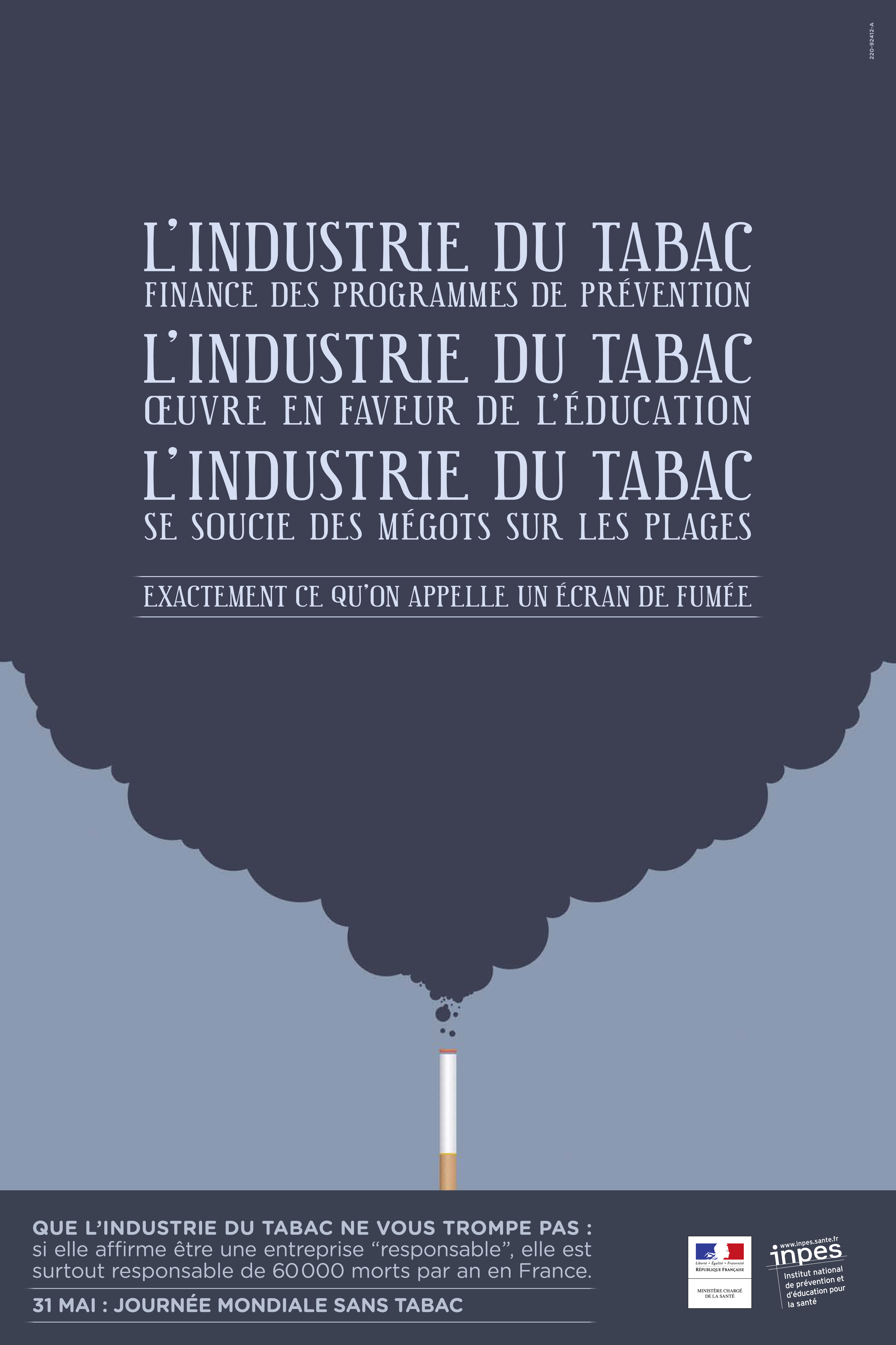 Campagne INPES 2012 - Industrie du tabac - www.tabac-info-service.fr