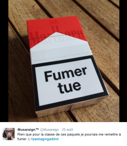 Hello paquet neutre ! Tweet sur le design Marlboro